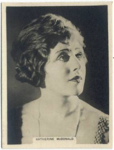 1925 Katherine McDonald Rothmans Tobacco Card