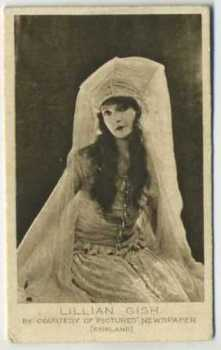 1926 Bucktrout & Co Lillian Gish Tobacco Card