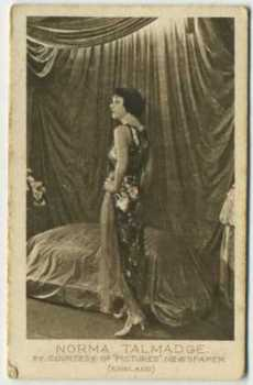 1926 Bucktrout & Co Norma Talmadge Tobacco Card