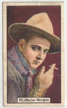 1930 J. Warren Kerrigan BAT Tobacco Card