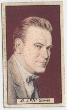JP McGowan - 1930 BAT Tobacco Card
