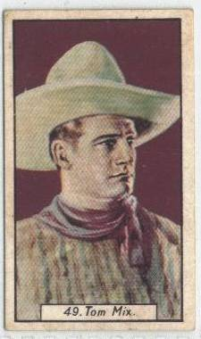1930 Tom Mix BAT Tobacco Card