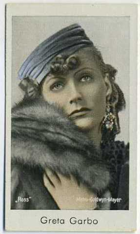 1930s Caid Greta Garbo Tobacco Card