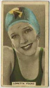 Loretta Young - 1934 Abdulla Tobacco Card