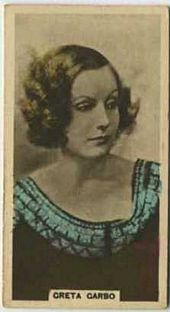 Greta Garbo - 1934 Abdulla Tobacco Card