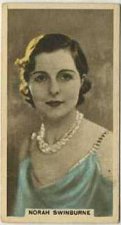 Norah Swinburne - 1934 Abdulla Tobacco Card