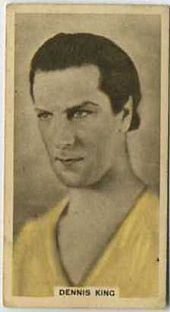 Dennis King - 1934 Abdulla Tobacco Card