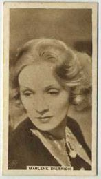Marlene Dietrich - 1933 United Kingdom Tobacco Card