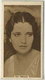 Kay Francis - 1933 United Kingdom Tobacco Card