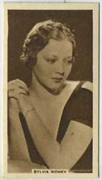 Sylvia Sidney - 1933 United Kingdom Tobacco Card