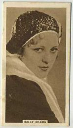 Sally Eilers - 1933 United Kingdom Tobacco Card