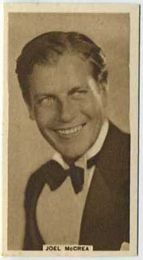 Joel McCrea - 1933 United Kingdom Tobacco Card