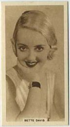 Bette Davis - 1933 United Kingdom Tobacco Card
