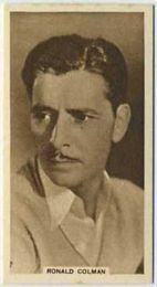 Ronald Colman - 1933 United Kingdom Tobacco Card