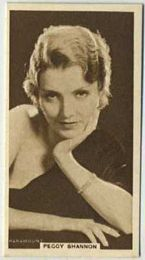 Peggy Shannon - 1933 United Kingdom Tobacco Card
