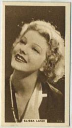 Elissa Landi - 1933 United Kingdom Tobacco Card