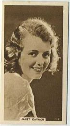 Janet Gaynor - 1933 United Kingdom Tobacco Card