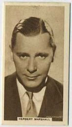 Herbert Marshall - 1933 United Kingdom Tobacco Card