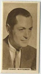 Robert Montgomery - 1933 United Kingdom Tobacco Card
