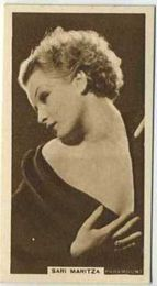 Sari Maritza - 1933 United Kingdom Tobacco Card