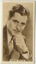 Warner Baxter - 1933 United Kingdom Tobacco Card