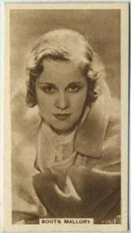 Boots Mallory - 1933 United Kingdom Tobacco Card