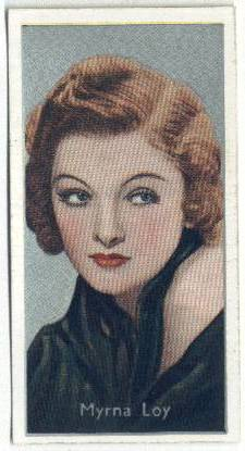 1936 Carreras Myrna Loy Tobacco Card