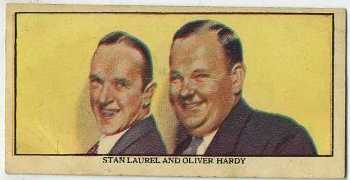 1939 Mars Confections Laurel and Hardy Trading Card
