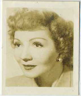 1947 PEP Claudette Colbert Trading Card