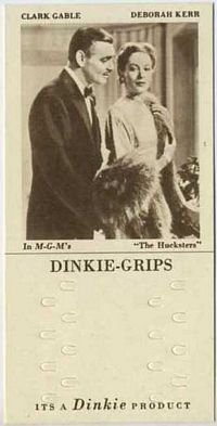 1948 Dinkie Grips MGM Films #3 Clark Gable and Deborah Kerr in The Hucksters