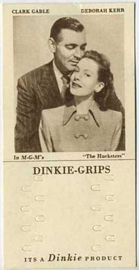 1948 Dinkie Grips MGM Films #17 Clark Gable and Deborah Kerr in The Hucksters