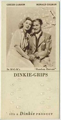 1948 Dinkie Grips MGM Films #1 Greer Garson and Ronald Colman in Random Harvest