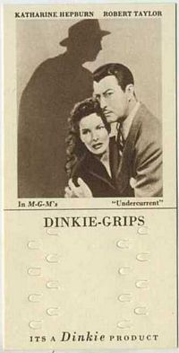 1948 Dinkie Grips MGM Films #4 Katharine Hepburn and Robert Taylor in Undercurrent