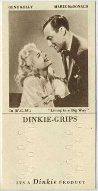 1948 Dinkie Grips MGM Films #18 Gene Kelly and Marie McDonald in Living in a Big Way