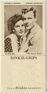 1948 Dinkie Grips MGM Films #10 Patricia Medina and Robert Sterling in The Secret Heart
