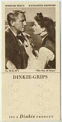1948 Dinkie Grips MGM Films #7 Spencer Tracy and Katharine Hepburn in The Sea of Grass