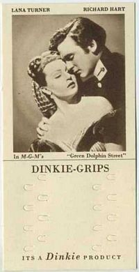 1948 Dinkie Grips MGM Films #14 Lana Turner and Richard Hart in Green Dolphin Street