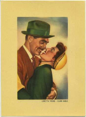 1950 Loretta Young and Clark Gable Kwatta Tobacco Premium