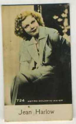 Jean Harlow - 1935 De Beukelaer Movie Card