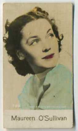 Maureen O'Sullivan - 1935 De Beukelaer Movie Card
