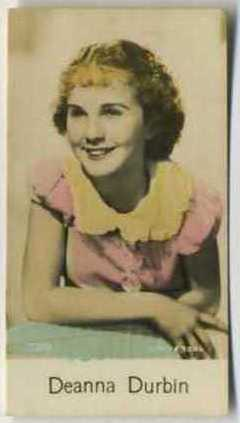 Deanna Durbin - 1935 De Beukelaer Movie Card
