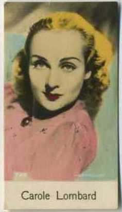 Carole Lombard - 1935 De Beukelaer Movie Card