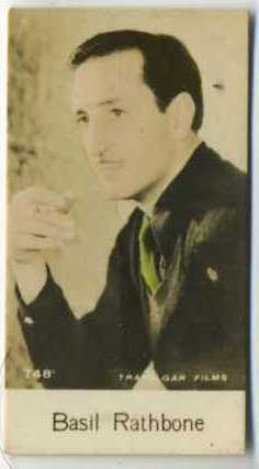 Basil Rathbone - 1935 De Beukelaer Movie Card