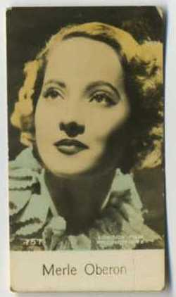 Merle Oberon - 1935 De Beukelaer Movie Card