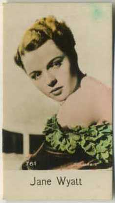 Jane Wyatt - 1935 De Beukelaer Movie Card