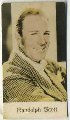 Randolph Scott - 1935 De Beukelaer Movie Card