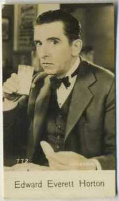Edward Everett Horton - 1935 De Beukelaer Movie Card