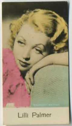Lilli Palmer - 1935 De Beukelaer Movie Card