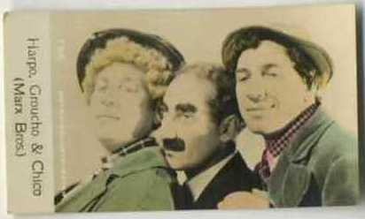 The Marx Brothers - 1935 De Beukelaer Movie Card