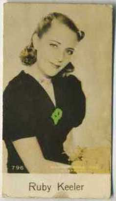 Ruby Keeler - 1935 De Beukelaer Movie Card